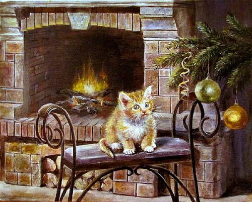TheCountess Hintergrund entitled Weihnachten Kitty 🎄