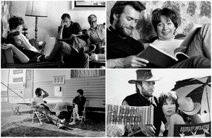 Clint Eastwood and Shirley MacLaine on the set of Two Mules for Sister Sara