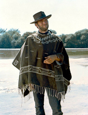 Clint Eastwood on the set of For a Few Dollars More