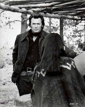 Clint Eastwood on the set of Joe Kidd 1972