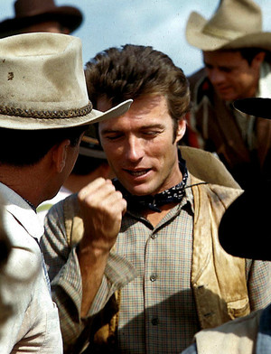 Clint Eastwood on the set of Rawhide (early 1960s)
