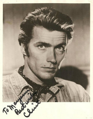 Clint Eastwood with autograph (Rawhide early 60's)