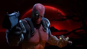 Deadpool Обои - Red