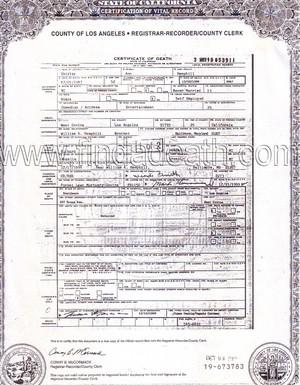 Death Certificate Of Shirley Hemphill