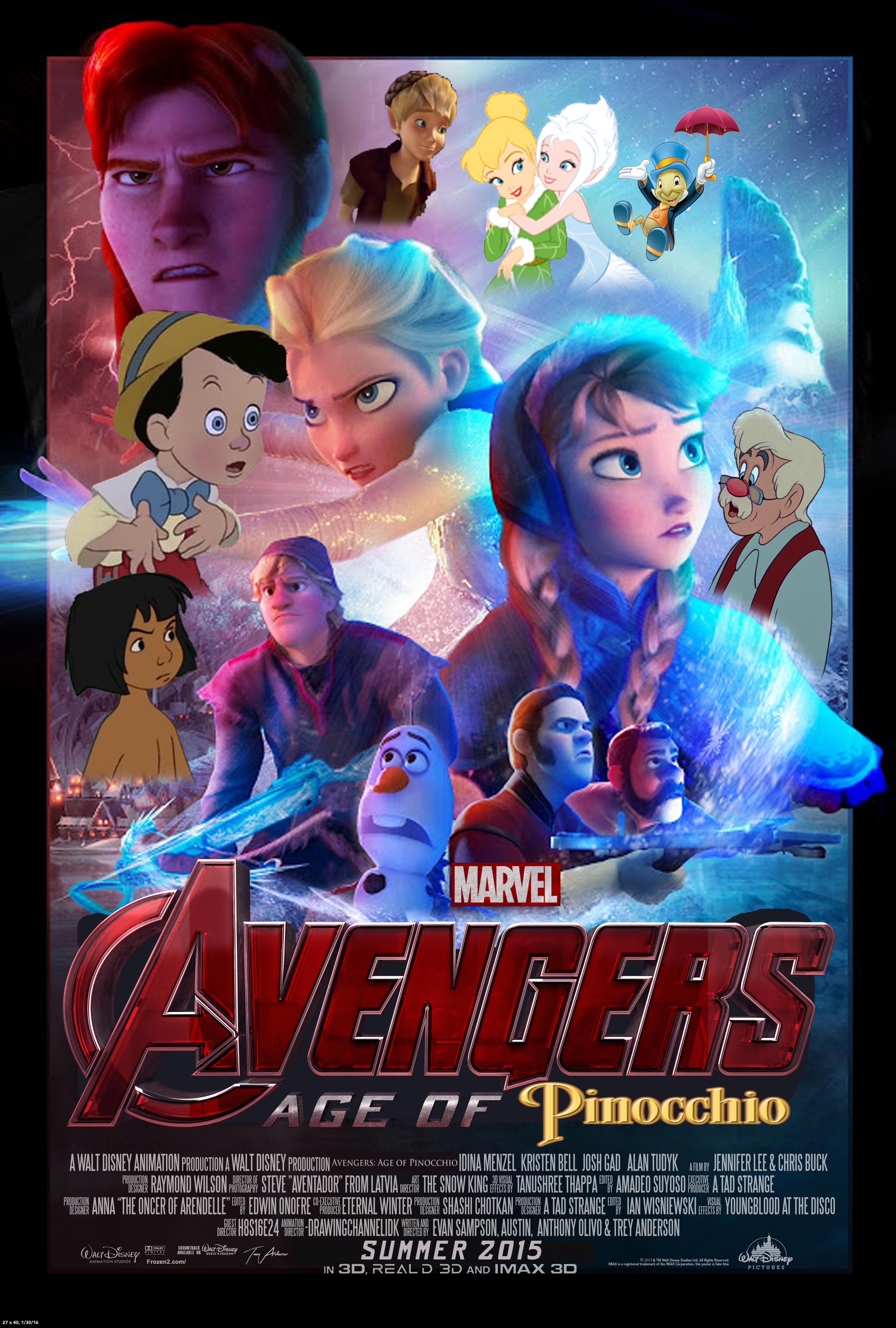 Disney's Avengers: Age of Pinocchio Poster