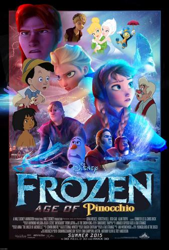 La Reine des Neiges photo entitled Disney's Frozen: Age of Pinocchio Poster