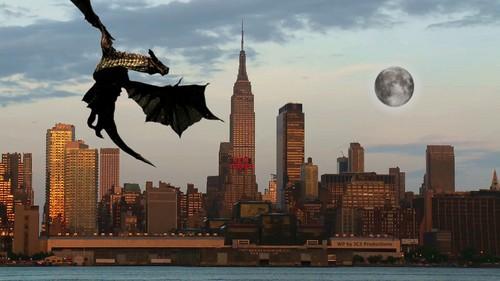 Dragons achtergrond called Dragon Invasion 2