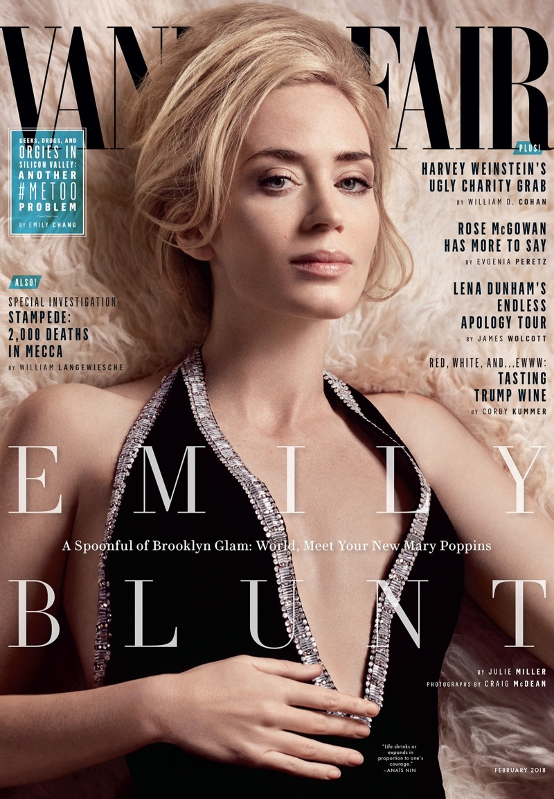 Emily Blunt Images Emily Blunt Covers Vanity Fair February 2018 Hd
