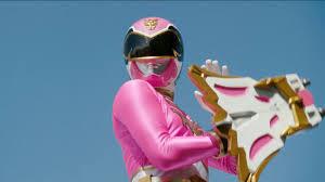 Emma Morphed As The merah jambu Megaforce and Super Megaforce Ranger