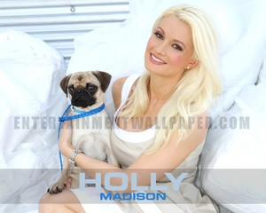 Famous Model ヒイラギ, ホリー Madison With A Pug
