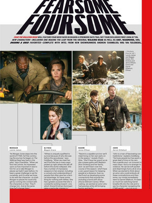 Fear the Walking Dead in Entertainment Weekly: Fearsome Foursome