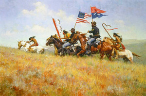 Flags on the Frontier par Howard Terpning