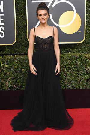 Frankie Shaw at 2018 Golden Globes Awards