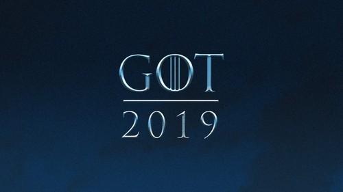 Game of Thrones karatasi la kupamba ukuta entitled GOT 2019 Logo