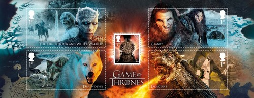 laro ng trono wolpeyper titled Game of Thrones Stamps - Creature Collection