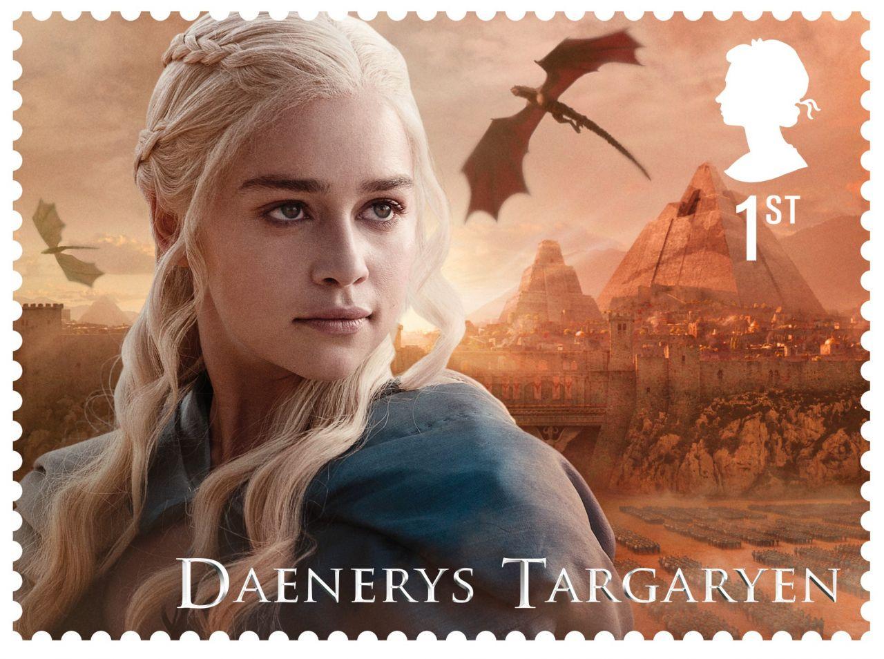 Game of Thrones Stamps - Daenerys Targaryen