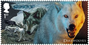 Game of Thrones Stamps - Direwolves