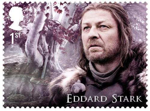 laro ng trono wolpeyper titled Game of Thrones Stamps - Eddard Stark