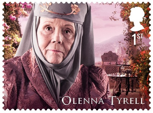 laro ng trono wolpeyper called Game of Thrones Stamps - Olenna Tyrell