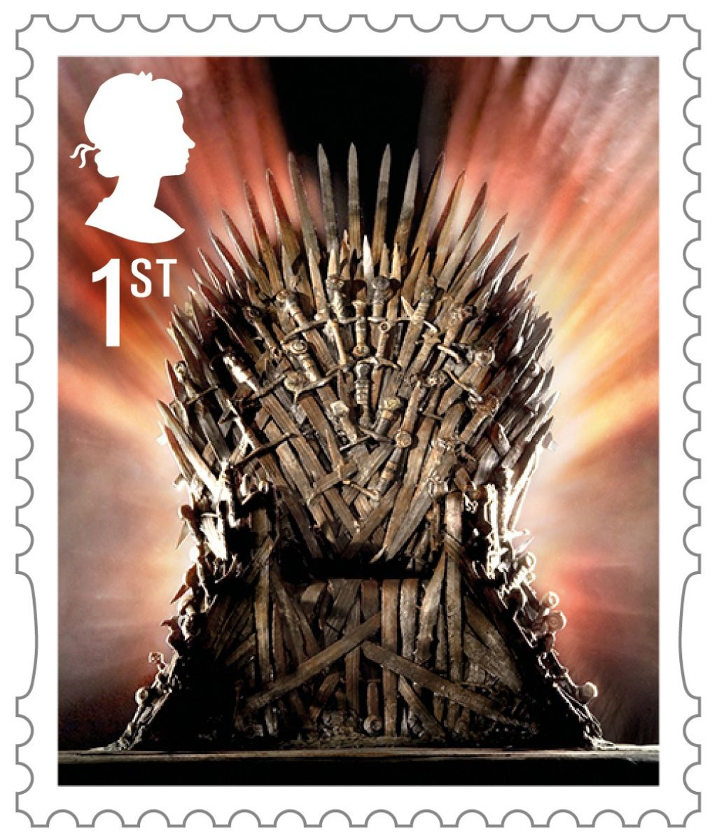 Game of Thrones Stamps - The Iron Throne