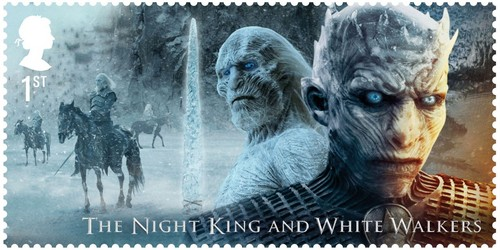 laro ng trono wolpeyper called Game of Thrones Stamps - The Night King and White Walkers