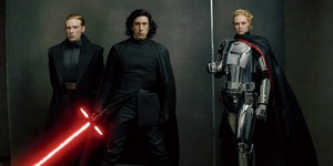 General Hux, Kylo Ren and Captain Phasma