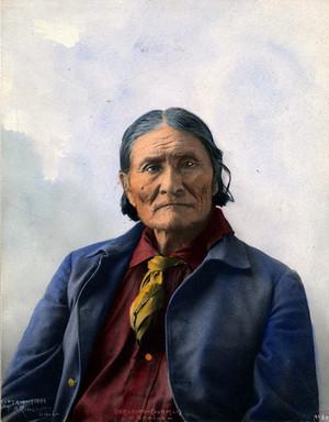 Geronimo (Goyaałé) Apache 1898 ছবি দ্বারা F.A. Rinehart (Omaha, Nebraska)