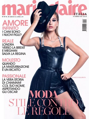Hailey Baldwin for Marie Claire Italy [February 2018]