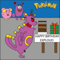 Happy Birthday Exploud - pokemon photo