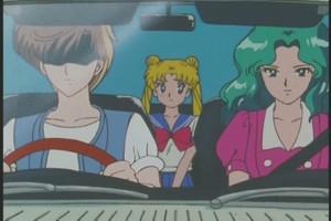 Haruka and Michiru and Usagi
