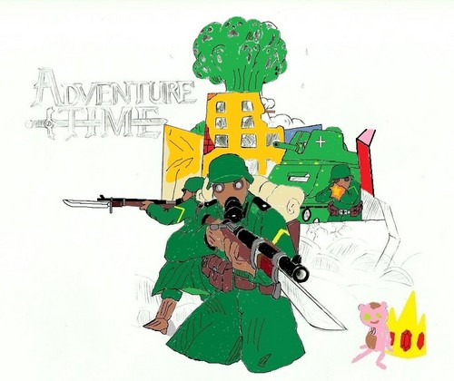 Adventure Time With Finn and Jake wallpaper called Humans soldiers Island Founders