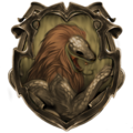 Hybrid House Crest: Gryfferin/Slytherdor - harry-potter fan art