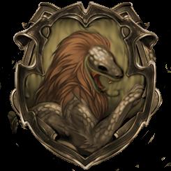 Hybrid House Crest: Gryfferin/Slytherdor