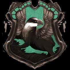 Hybrid House Crest: Ravenpuff/Huffleclaw