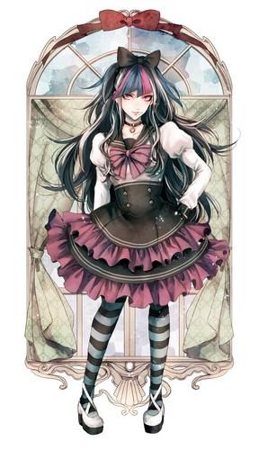 Ibuki Mioda kertas dinding titled Ibuki Mioda in Wonderland