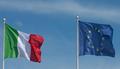 Italy and EU waving flags - italy photo