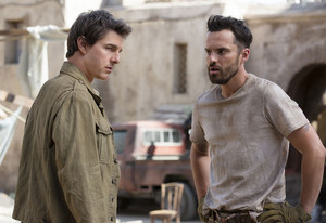 Jake Johnson and Tom Cruise (The Mummy)