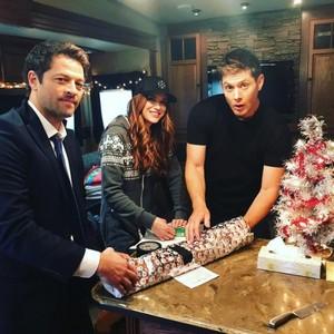Jensen, Danneel and Misha