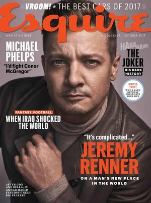 Jeremy Renner - Esquire Middle East Cover - 2017