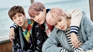 Jin, Hobi and Jimin