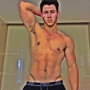 Joe Jonas shirtless