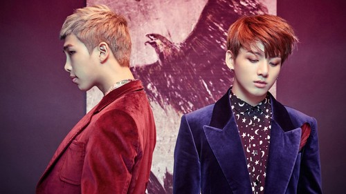 Jungkook (BTS) karatasi la kupamba ukuta entitled Jungkook nd RM