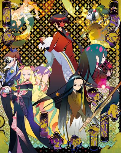 後ろ姿の鑢七花とその他のキャラクター達の刀語の壁紙