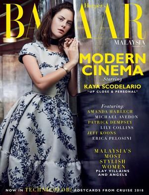 Kaya Scodelario ~ Harper's Bazaar Malaysia ~ December 2017