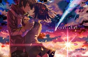 Kimi No Na Wa : Mitusha and Taki fond d'écran