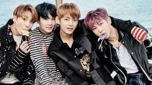 Kookie, Suga, V and RM