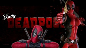 Lady Deadpool پیپر وال - 9