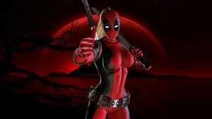Lady Deadpool 壁紙 - Red