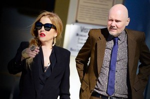 Lisa and her friend Billy Corgan