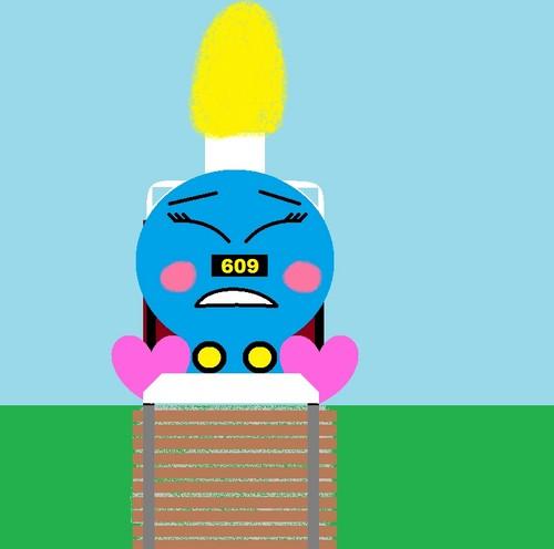 Thomas the Tank Engine Hintergrund titled Lucy slipping